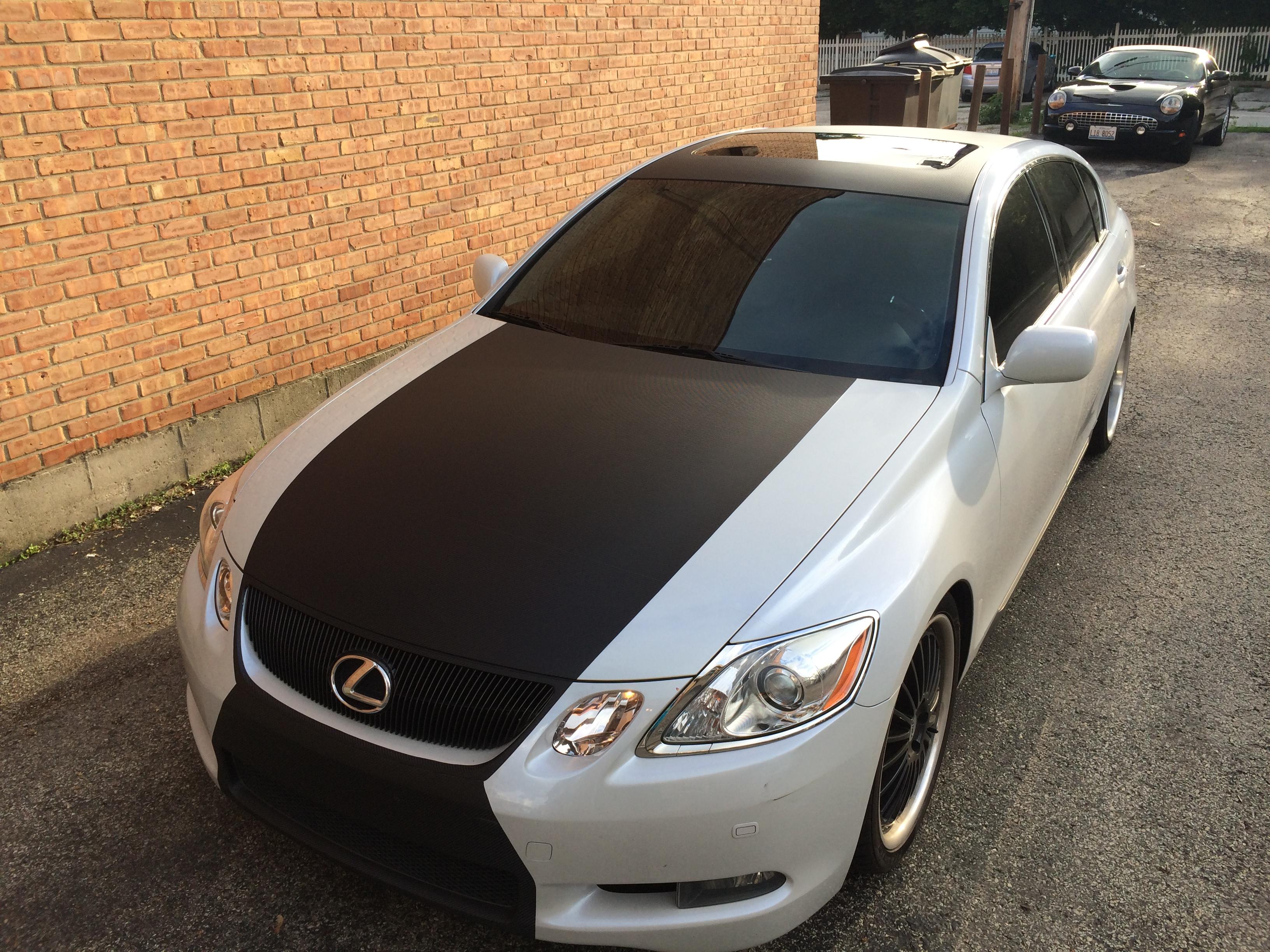 ... Lexus Carbon Fiber Hood Roof Trunk Wrap 3 ...